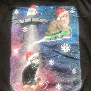 """Cats """"Ugly Christmas"""" tee"""